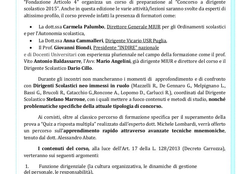 Corso Dirigente FondArt4